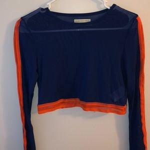 Urban Outfitters mesh long sleeve crop top